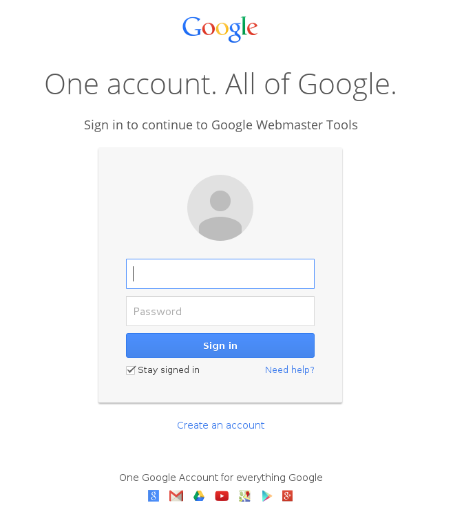 google-login-webmaster-tools